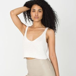 American Apparel Cropped Sparkle Sweater Tank